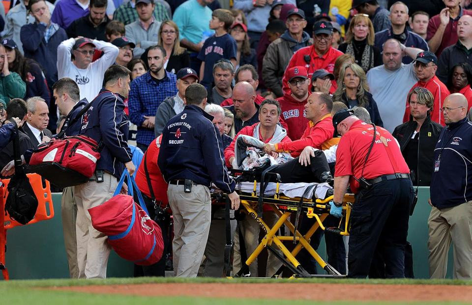 Fan Hit By Broken Bat During Red Sox Game Has Life Threatening Injuries red sox1