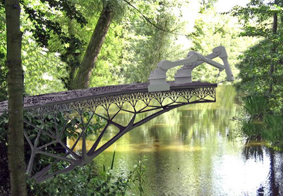 The Robots Are Taking Over! Metal Bridge To Be Completely 3D Printed robot bridge WEB