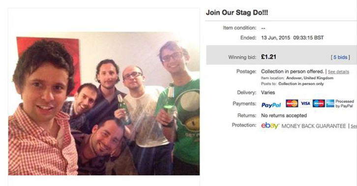 Guys Sell Place On Stag Do To A Random Woman On eBay Theyve Never Met stag do fb