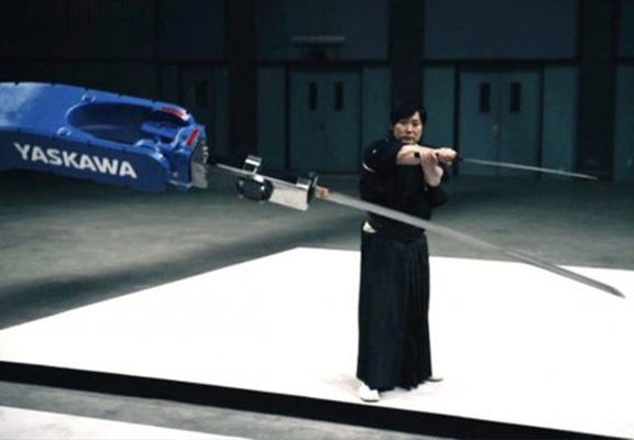 Giant Sword Wielding Robot Takes On Modern Day Samurai Because Why The Hell Not? sword robot WEB