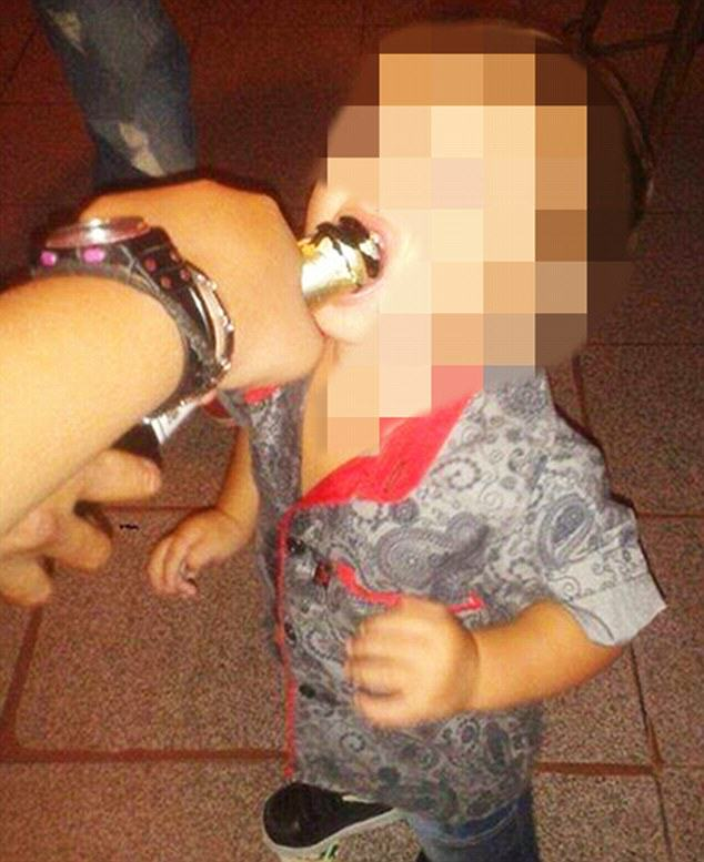 Mother Posts Images Of Toddler Smoking Drugs And Drinking, Sparks Outrage toddler drug 1