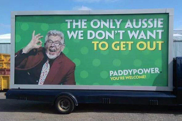Paddy Power Axe This Controversial Publicity Stunt Involving Rolf Harris 1108