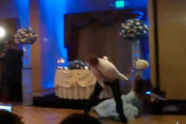 Groomsman Attempts A Backflip On The Dancefloor   Knocks Out A Bridesmaid 1111