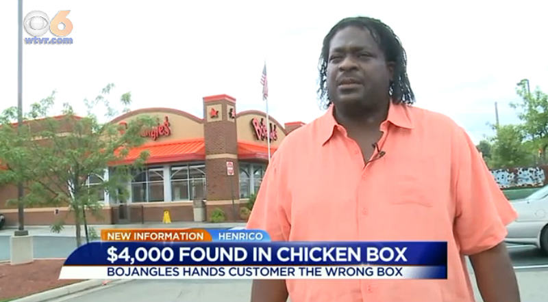 Man Finds $4000 In Box Of Fried Chicken, Life Is Good 1142