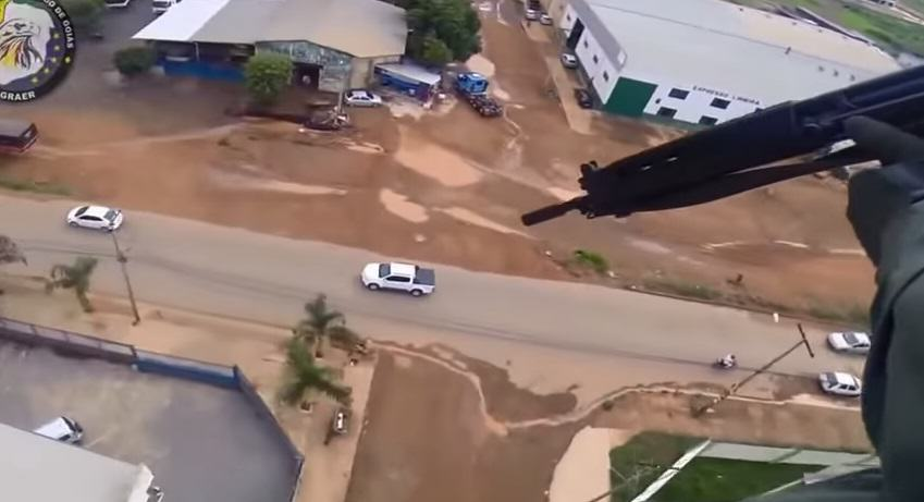 Police Helicopter Gun Squad Shoot At Brazilian Gangster On The Run 134