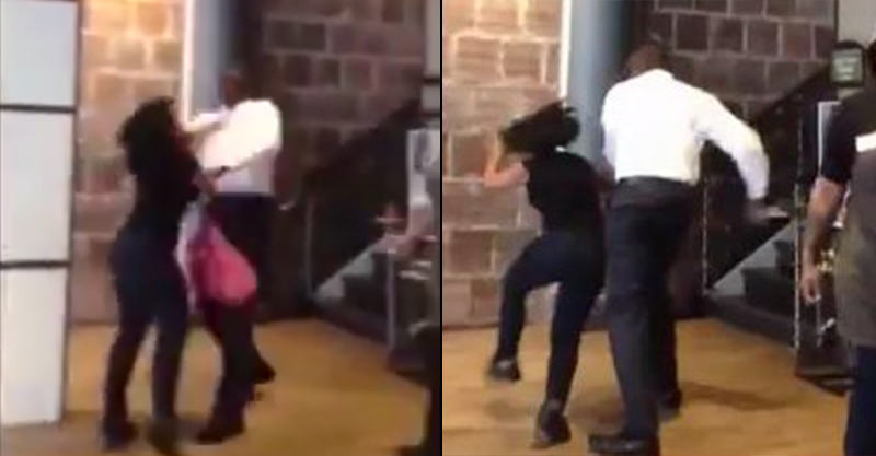 Woman Quits Job During Shift, Boss Knocks Her Out In Outrageous Footage 147