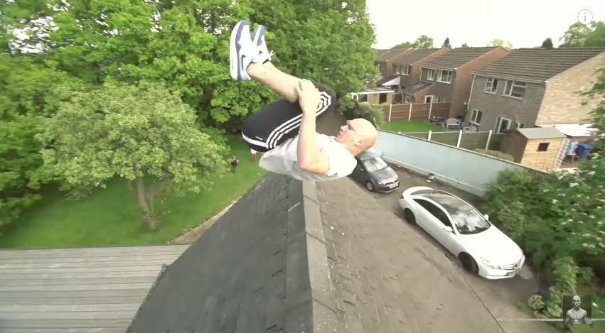 Lad Jumps Of A Swing And Clears A House 166
