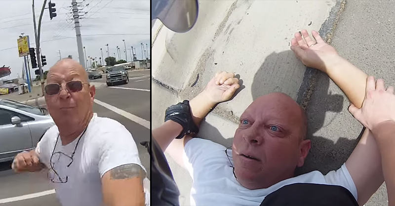 Man Punches Motorcyclist In Road Rage Attack, Regrets It Instantly 189