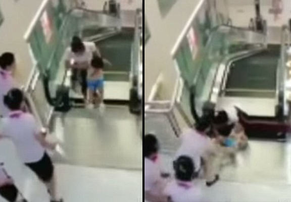 Mother Dies Heroically Saving Her Young Son In Escalator Collapse 55b62b38aa33c