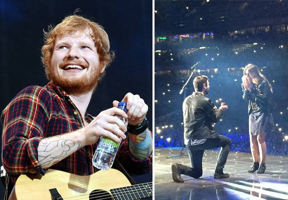 Ed Sheeran Helps Mate Propose In Front Of 80,000 People 55b6522810d96