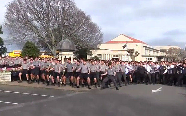 Entire School In New Zealand Perform Touching Haka Dance At Teachers Funeral 55b695503357f