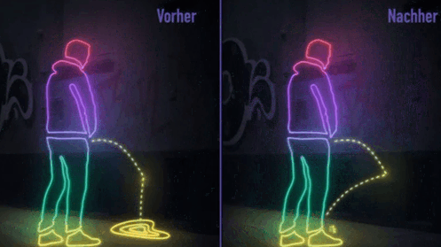 San Francisco Introduces Paint That Creates Ultimate Splash Back For Public Pissers 55b7444a9aac6