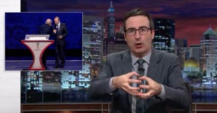 John Oliver Hilariously Lays Into FIFA Again As Blatter Meets Putin 55b76940e70f3