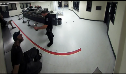 Cop Investigated For Throwing Peanuts At Homeless Man In Custody 55b79e50ec0c5