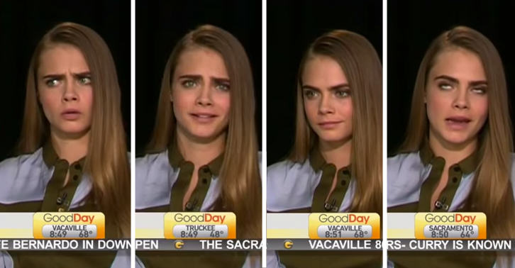 tv show interview   delevingne   awkward  fast