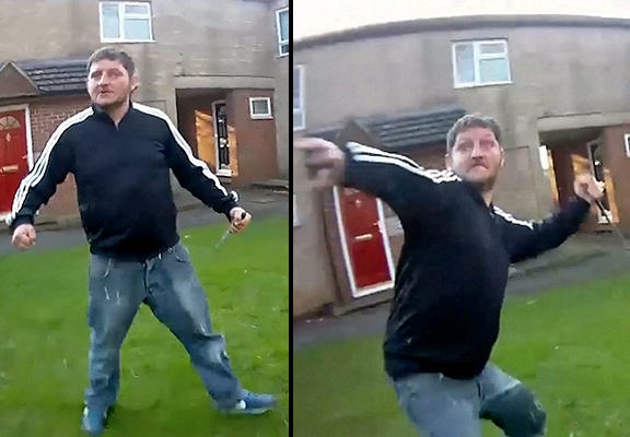 Dramatic Bodycam Footage Shows Knife Wielding Man Attack Police Officers 55b8f3209547e