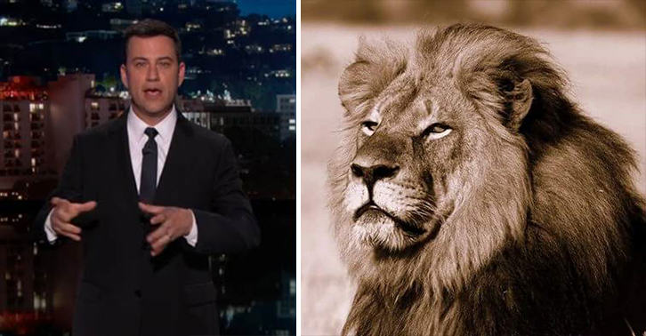 Disgusting Tragedy Of Cecil The Lion Brings Jimmy Kimmel Close To Tears 55b909f3840c1