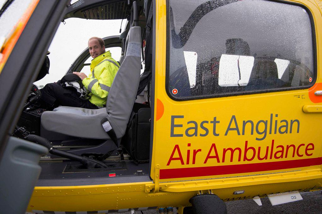 Prince William Takes Full Time Job, Donates Wages To Charity Prince William co pilot with the East Anglian Air Ambulanc
