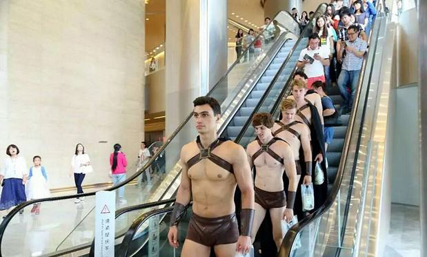 Army Of Half Naked Spartan Warriors Repelled By Chinese Police On Streets Of Beijing Spartan 2imaginechina