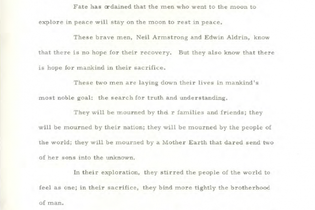 The Speech That Would Have Been Made If The Apollo 11 Moon Landing Had Failed Speech 1 640x426