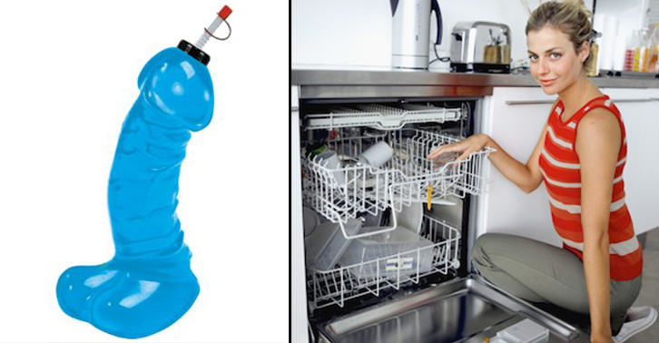Teenage Lad Finds Mums Cock Shaped Water Bottle In Dishwasher TN130
