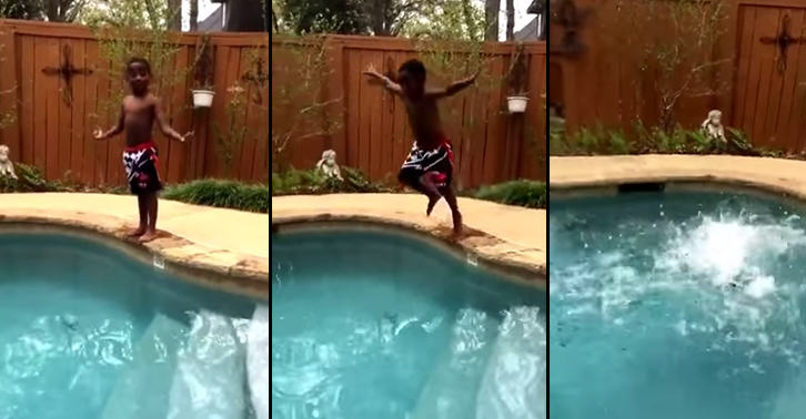 This Kid Pumping Himself Up To Jump Into Pool Is Self Motivation At Its Best TN174