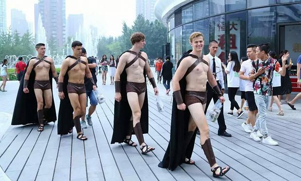 Army Of Half Naked Spartan Warriors Repelled By Chinese Police On Streets Of Beijing Warriors imaginechina
