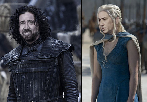 Nicolas Cage As Every Game Of Thrones Character Is Glorious cage of thrones WEB