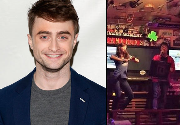 Daniel Radcliffe Performs Eminem In Karaoke Bar As Girlfriend Dances daniel radcliffe WEB