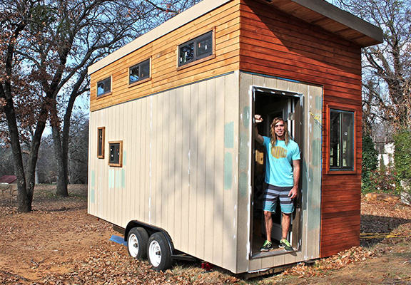 College Student Builds Tiny Home To Help Him Graduate With Less Debt debt free web