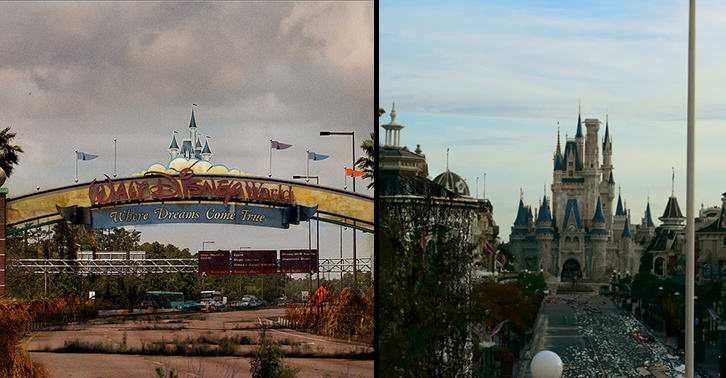 These Images Of A Post Apocalyptic Disney World Are Actually Really Disturbing disneylandfacebook