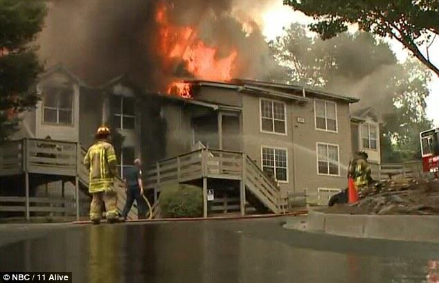 Two Girls Caught On Camera Being Forced To Jump Through A Window To Escape House Fire firewind1