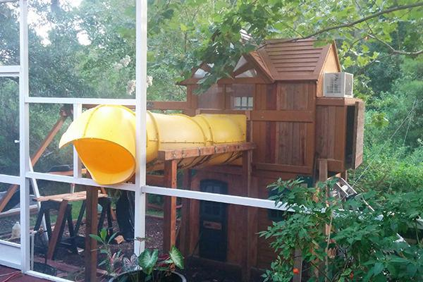 Creative Dad Turns Playset Into BADASS Fort fort