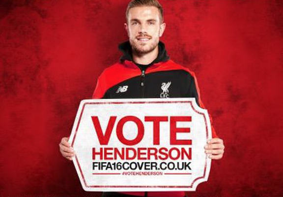 Internet Reacts To Jordan Henderson Being On The Cover Of FIFA 16 hendo web