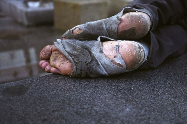 OPINION: Should We Give Beggars Money? homeless feet 640x426