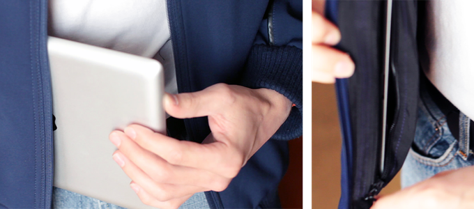 The Swiss Army Knife Of Jackets Is One Of The Best Things On Kickstarter iPad pocket