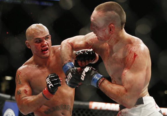 Robbie Lawler and Rory MacDonald Beat The Living Sh*t Out Of Each Other At UFC 189 lawler macdonald WEB
