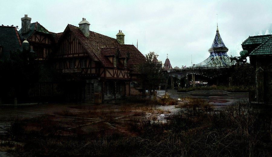 These Images Of A Post Apocalyptic Disney World Are Actually Really Disturbing lifeafterdisney  fantasy land by eledoremassis02 d38tc9g