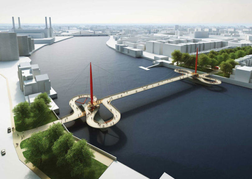 Here Are The Final Four Designs For Londons New Cycle Bridge london cycle bridge 2