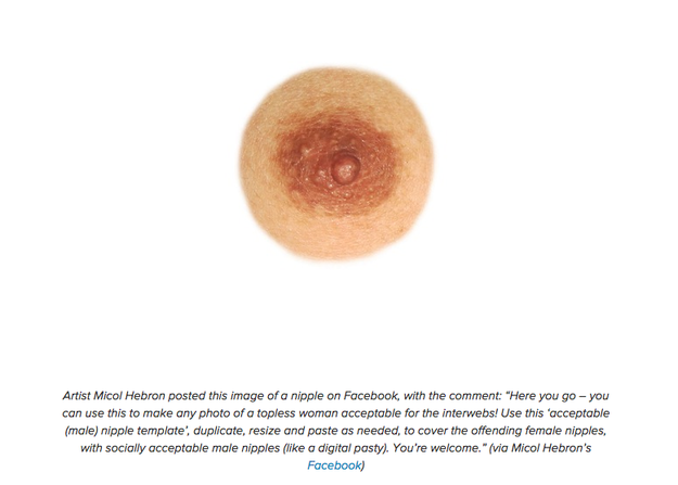 Women Are Photoshopping Themselves With Male Nipples To Fight Back Against Censorship male nipple