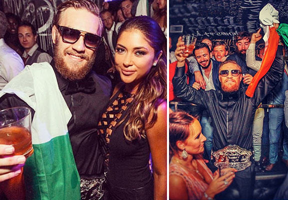 Conor McGregor Paints The Town Green, White And Orange Following UFC Title Win mcgregor party WEB