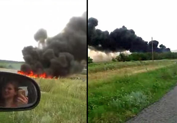 Harrowing New Footage Of MH17 Crash Site Emerges Online mh 17 crash WEB