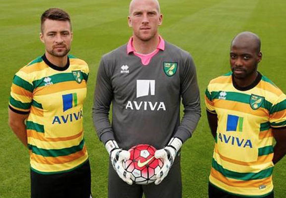 The Worst New Football Kits For The 2015/16 Season norwich 3