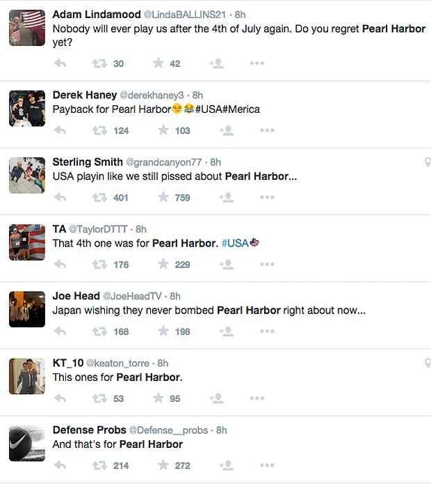 USA Fans Call Womens World Cup Win Over Japan Revenge For Pearl Harbour pearl harbour tweets