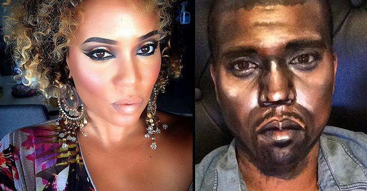 This Female Makeup Artist Transforms Herself Into Famous Rappers And Celebrities rapperfacebook