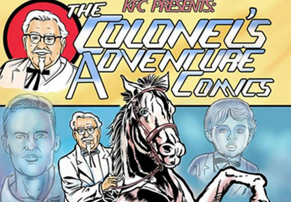 KFC Are Launching A Comic Book And Colonel Sanders Is The Star Of The Show sanders web