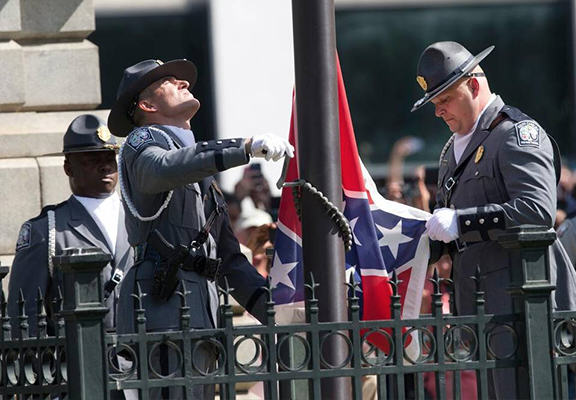 The Confederate Flag Was Finally Removed From The South Carolina Statehouse Today sc flag WEB