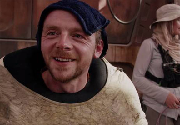 Simon Pegg Is In Star Wars: The Force Awakens, After All simon pegg WEB