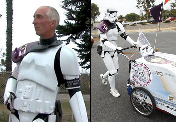 Man Walks Over 600 Miles To Comic Con Dressed As Stormtrooper To Honour Late Wife star wars WEB