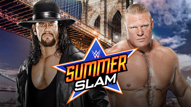 Undertaker vs Brock Lesnar Is Official For WWE Summerslam taker lesnar summerslam